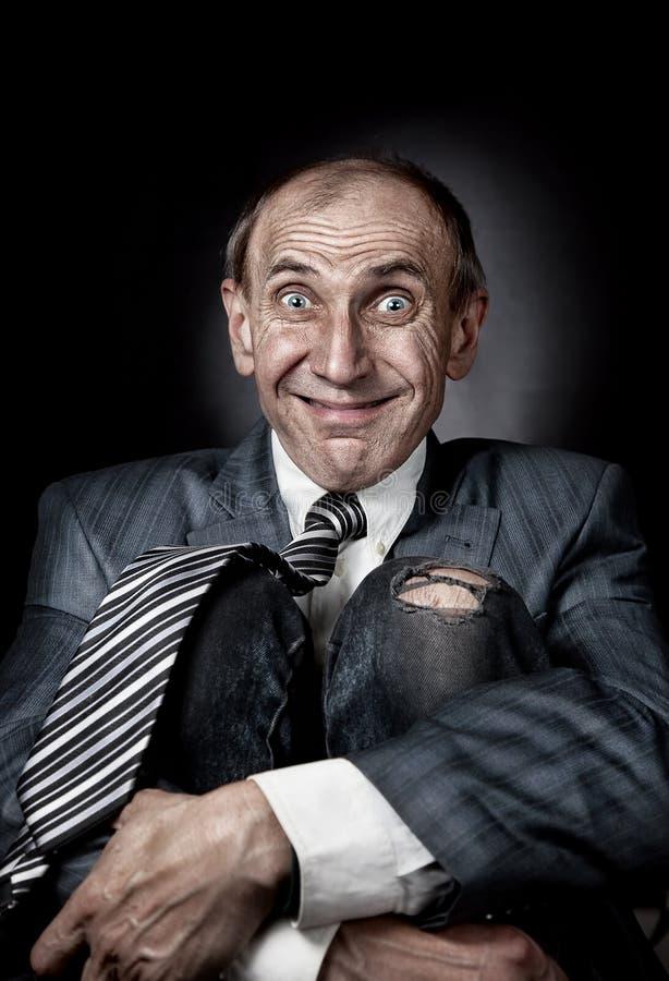 Uomo d'affari divertente fotografie stock libere da diritti
