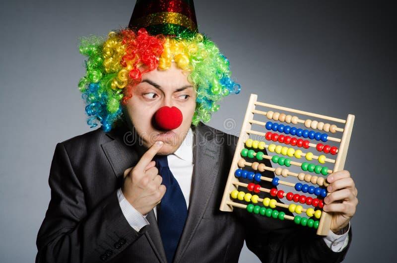 Uomo d'affari divertente del pagliaccio immagine stock libera da diritti