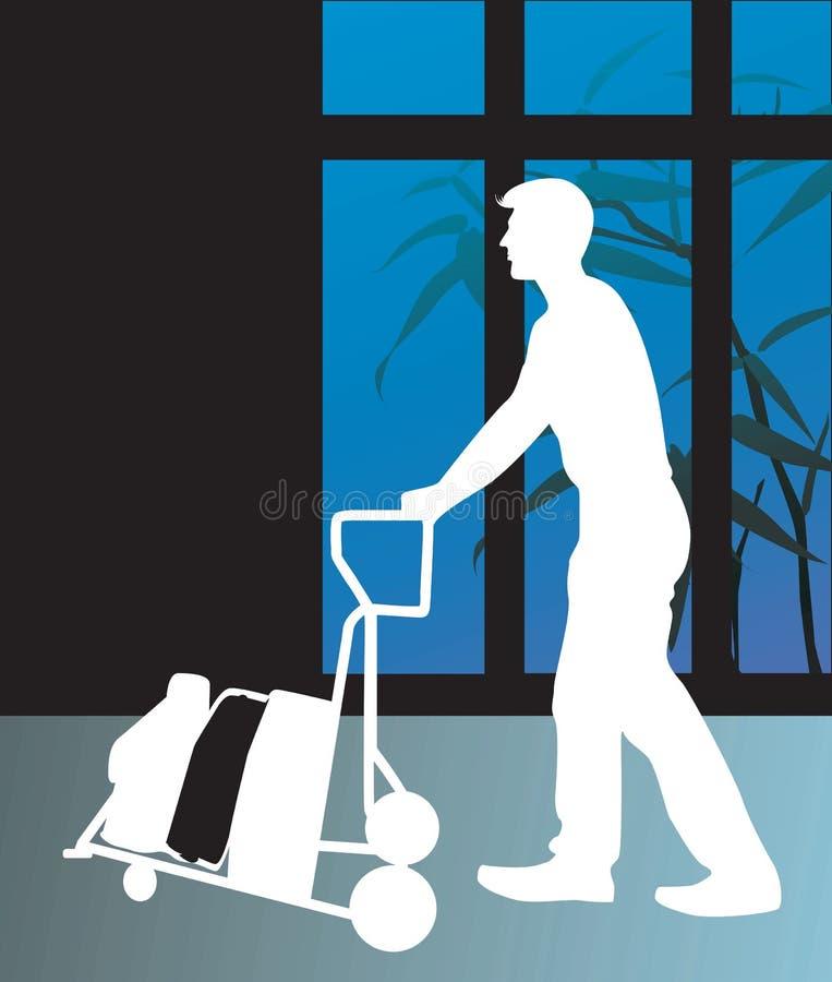Uomo d'affari e bagagli illustrazione vettoriale