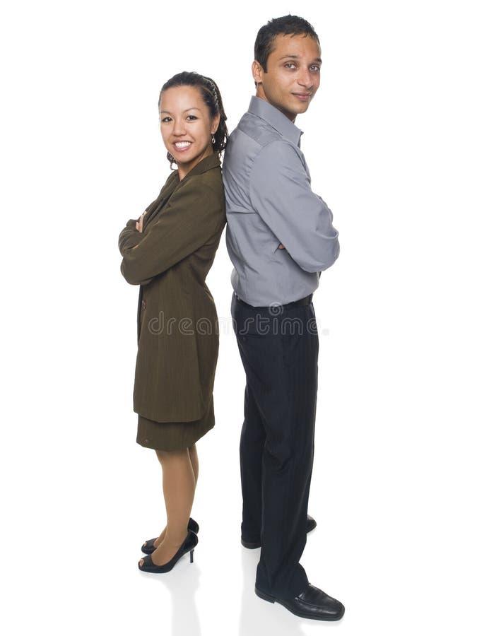 Uomo d'affari e donna di affari fotografie stock