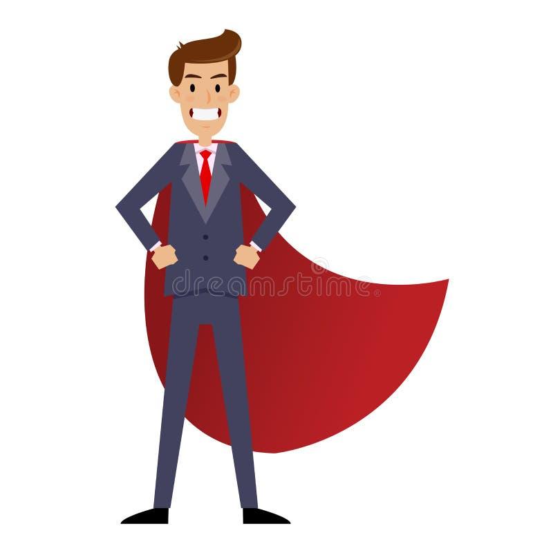 Uomo d'affari eccellente With Red Cape royalty illustrazione gratis