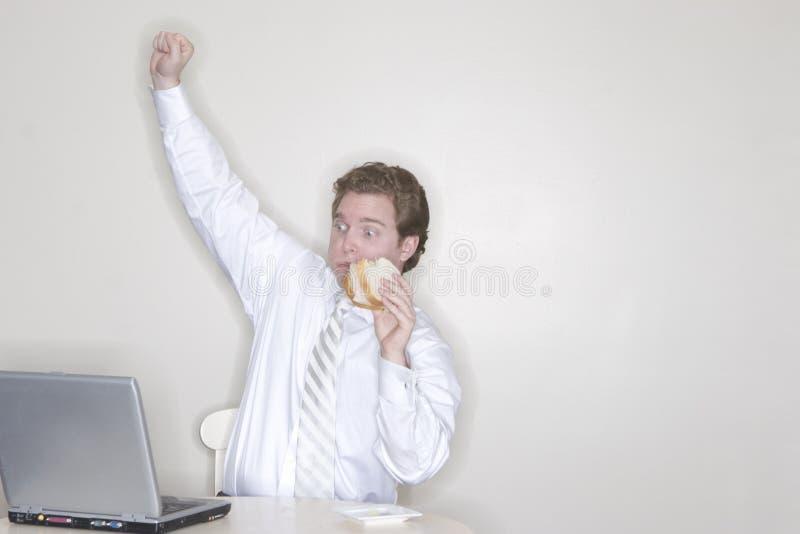 Uomo d'affari eccitato fotografie stock