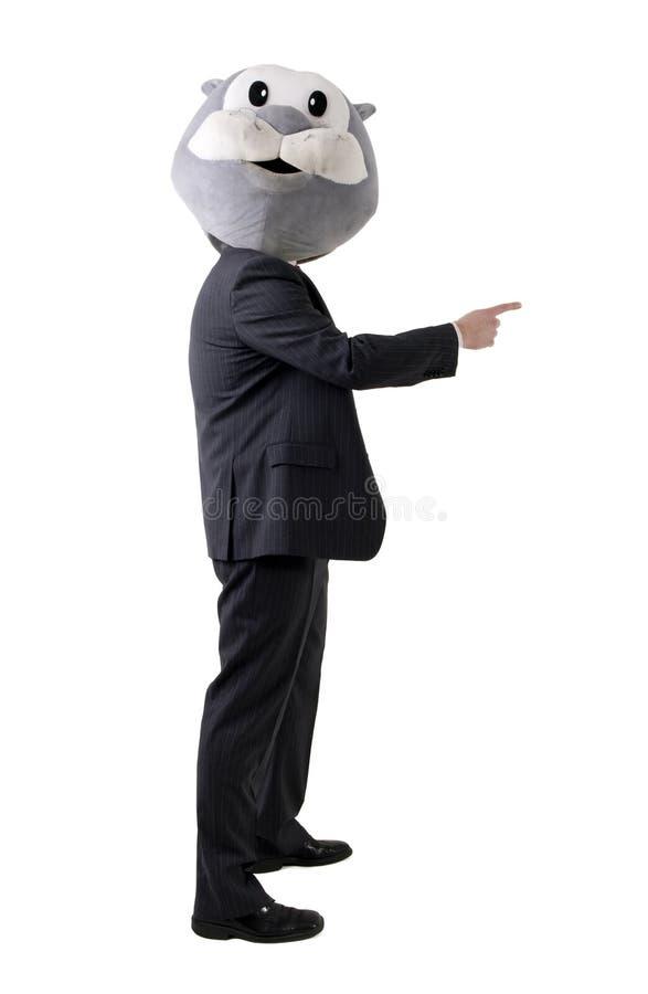 Uomo d'affari falso immagine stock libera da diritti