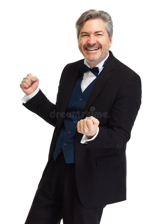Uomo d'affari felice fotografie stock libere da diritti