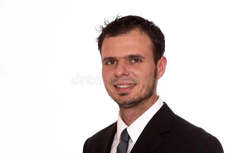 Uomo d'affari felice fotografia stock