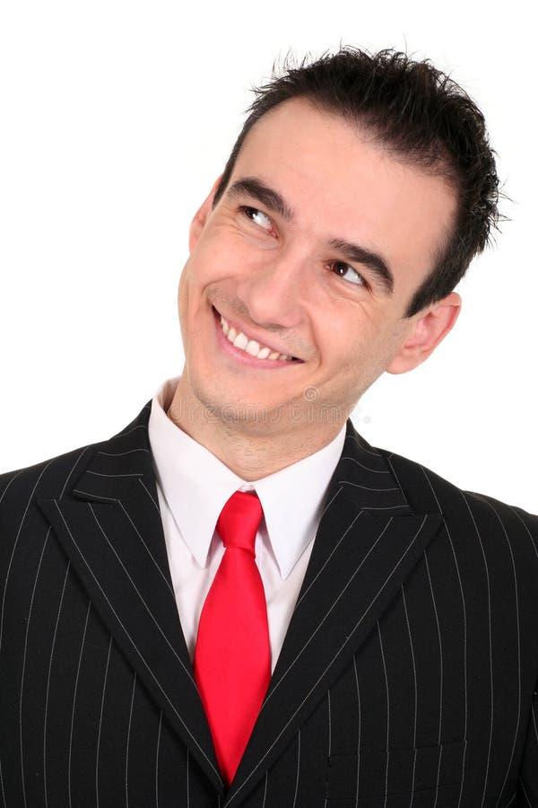 Uomo d'affari felice fotografie stock