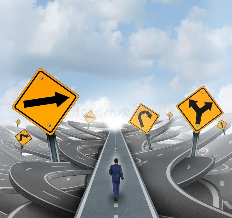 Uomo d'affari Forward Path illustrazione di stock
