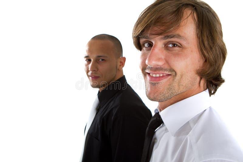 Uomo d'affari fresco due fotografie stock