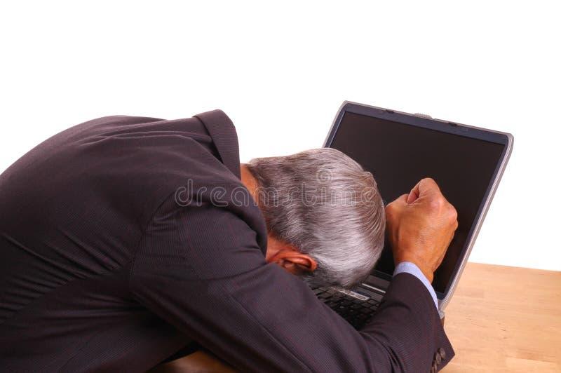 Uomo d'affari frustrato immagine stock libera da diritti