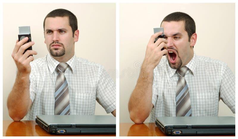 Uomo d'affari furioso fotografia stock libera da diritti