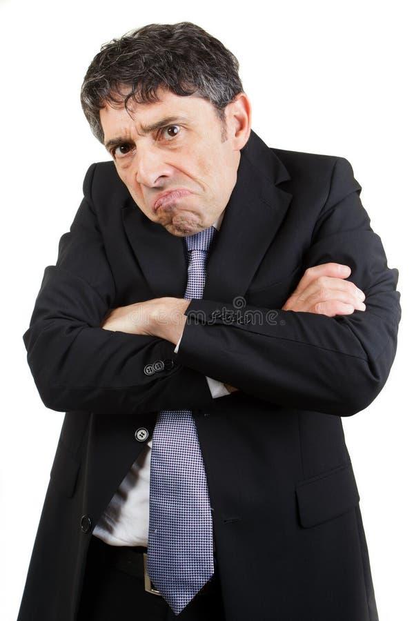 Uomo d'affari infelice immagini stock libere da diritti