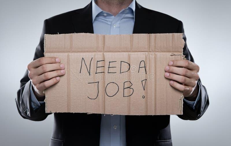 Uomo d'affari infornato che cerca un job fotografia stock libera da diritti