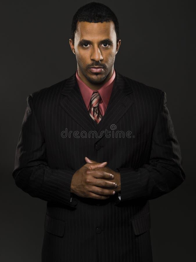 Uomo d'affari - intenso fotografia stock