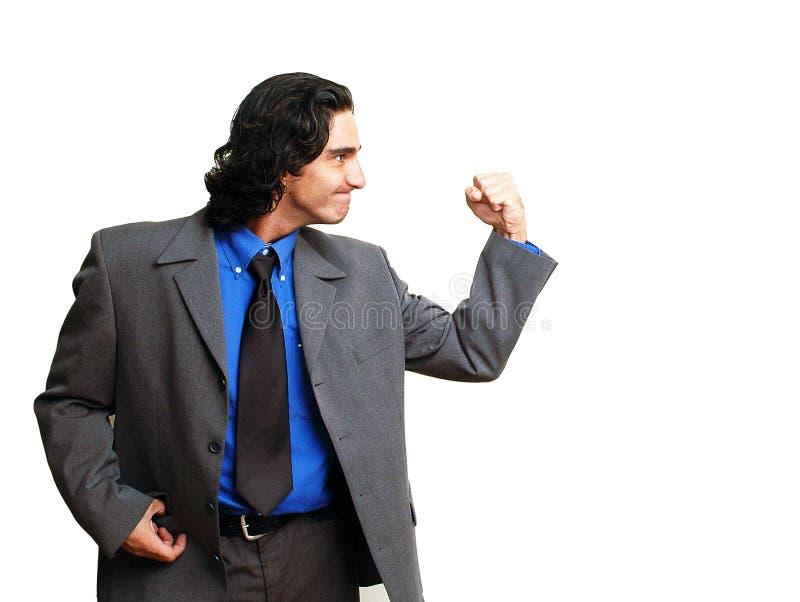 Uomo d'affari isoalted-10 fotografia stock libera da diritti