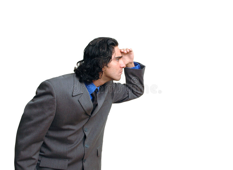 Uomo d'affari isolated-3 fotografia stock