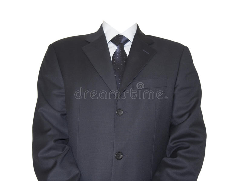Uomo d'affari isolato senza testa immagini stock