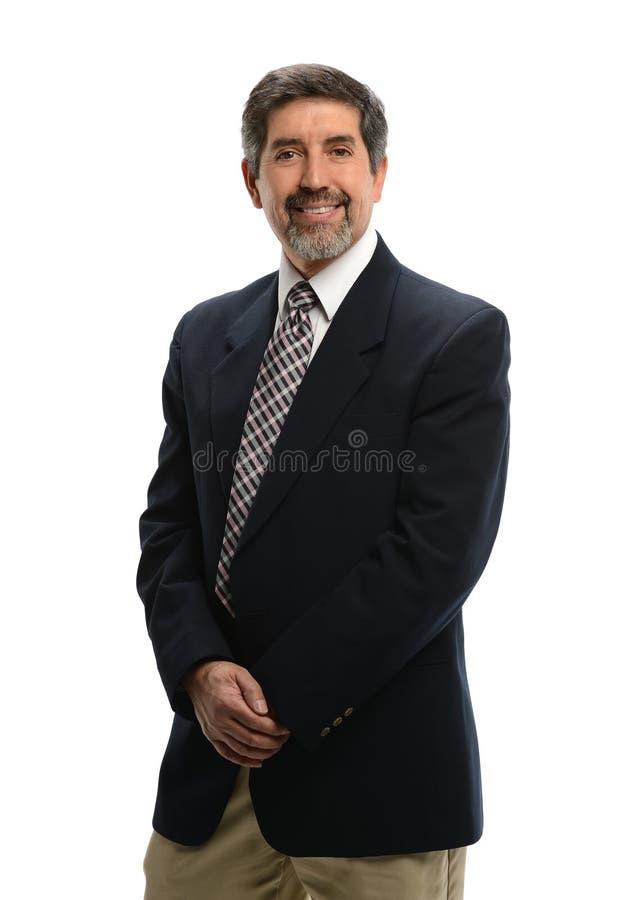 Uomo d'affari ispano maturo fotografie stock libere da diritti
