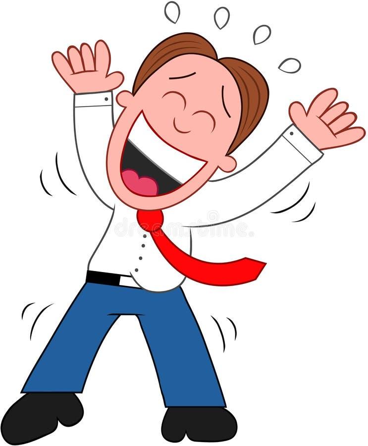 Uomo d'affari Laughing del fumetto. illustrazione vettoriale