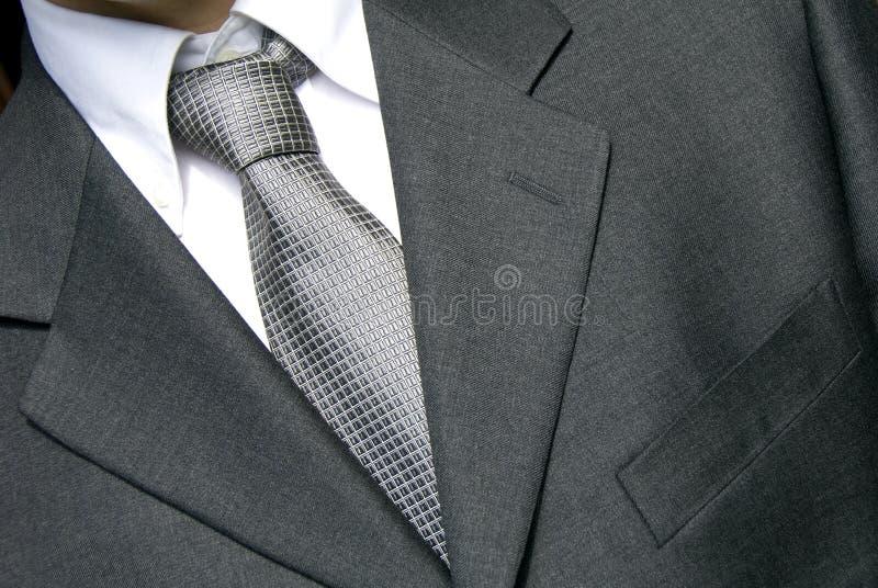 Uomo d'affari in legame d'argento immagine stock