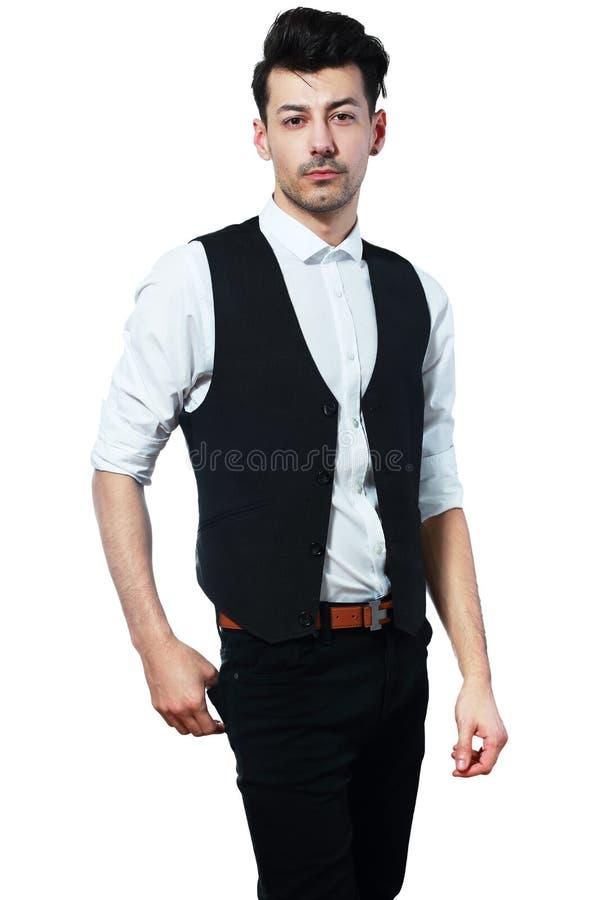 Uomo d'affari in maglia fotografia stock libera da diritti