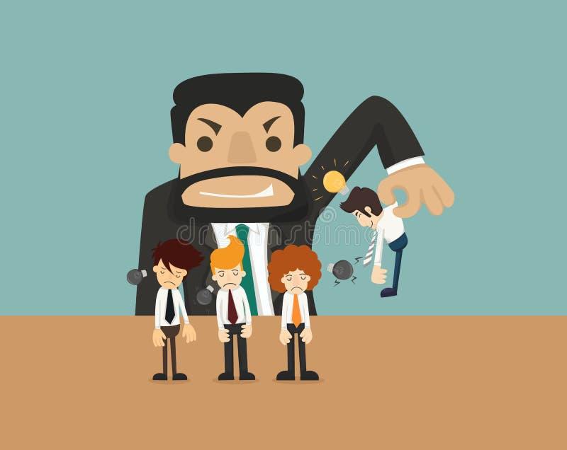 Uomo d'affari Make Idea illustrazione di stock