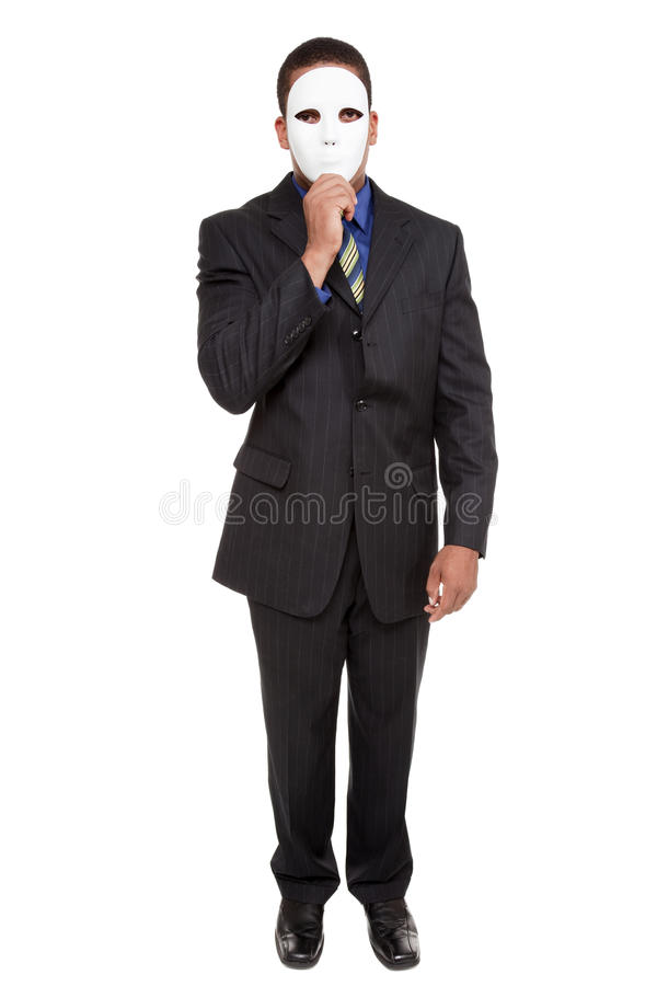 Uomo d'affari - mascherina del costume immagini stock