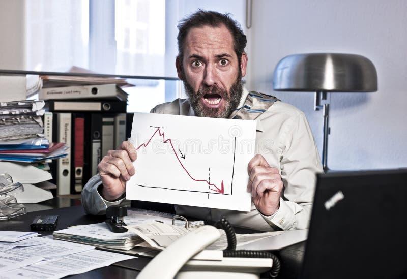 Uomo d'affari nel panico immagini stock libere da diritti