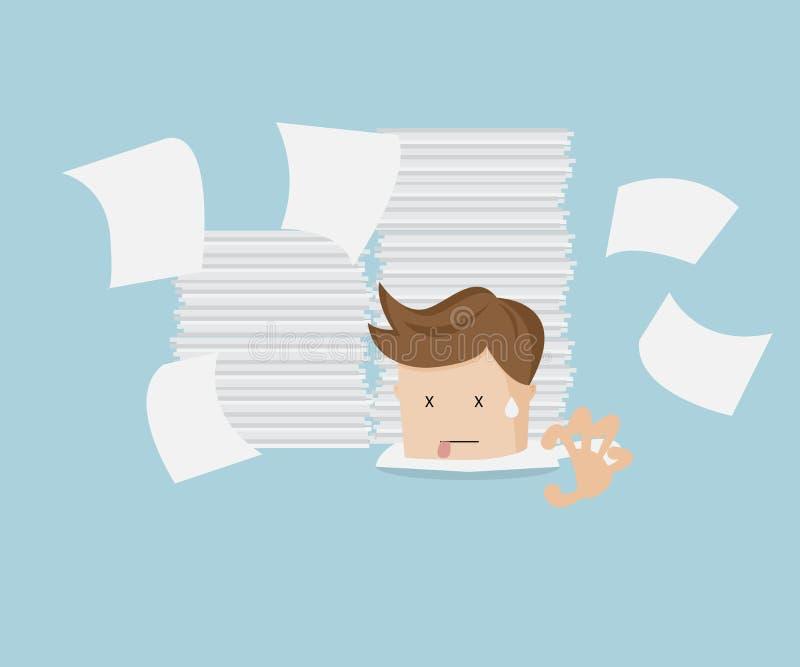 Uomo d'affari nell'ambito del documento royalty illustrazione gratis