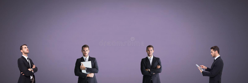 Uomo d'affari nell'ordine fotografia stock