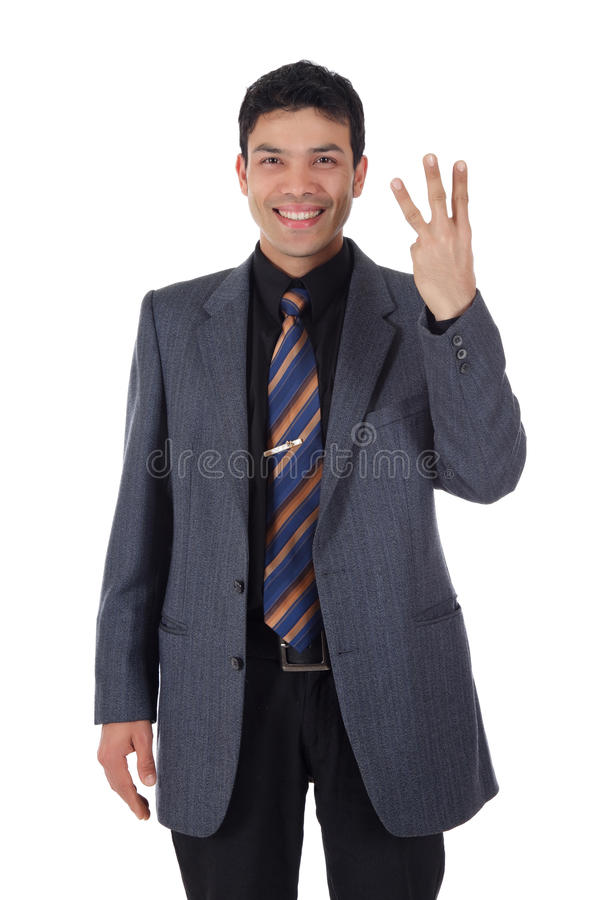 Uomo d'affari nepalese attraente, barrette immagine stock libera da diritti