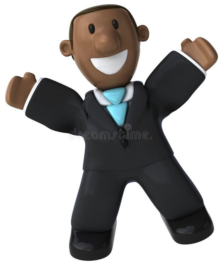Uomo d'affari nero illustrazione di stock