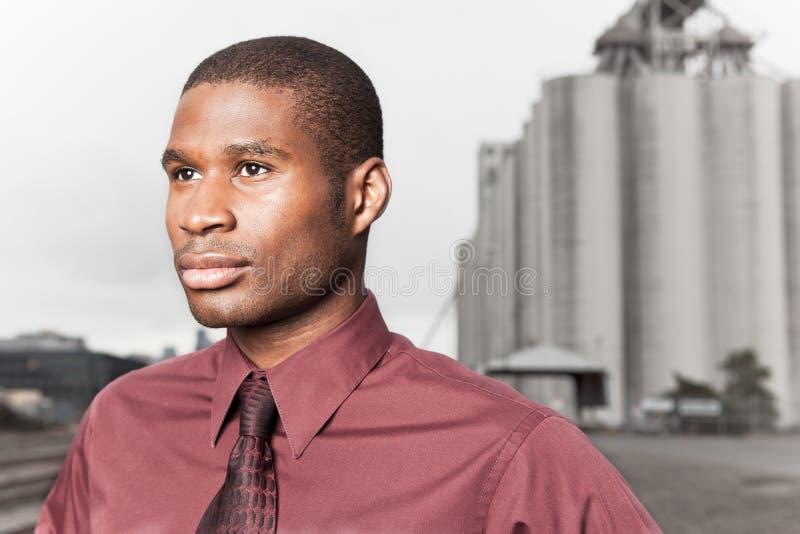 Uomo d'affari nero fotografia stock