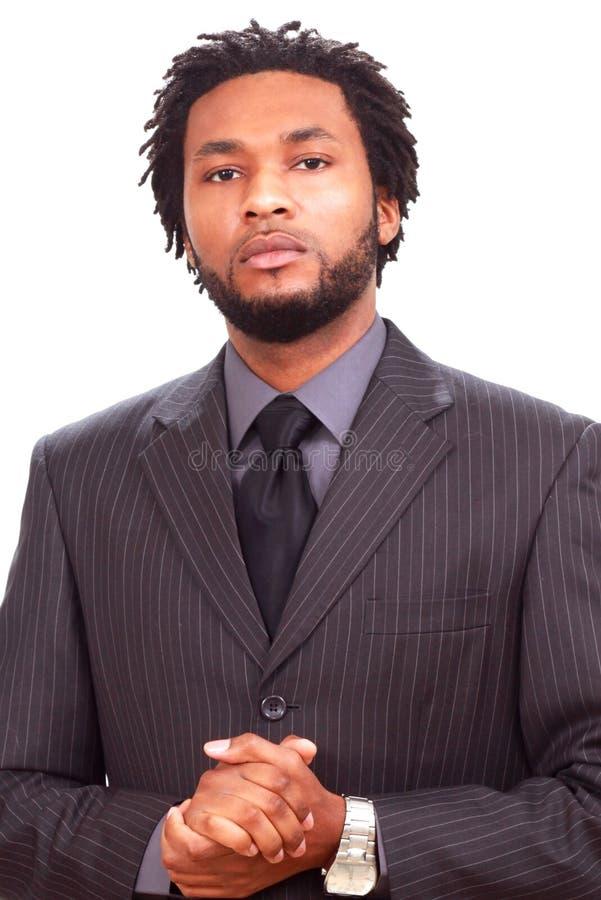 Uomo d'affari nero fotografie stock libere da diritti