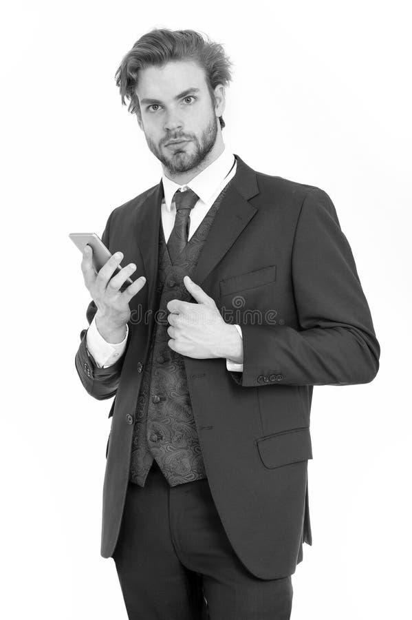 Uomo d'affari o ceo in rivestimento nero fotografia stock libera da diritti