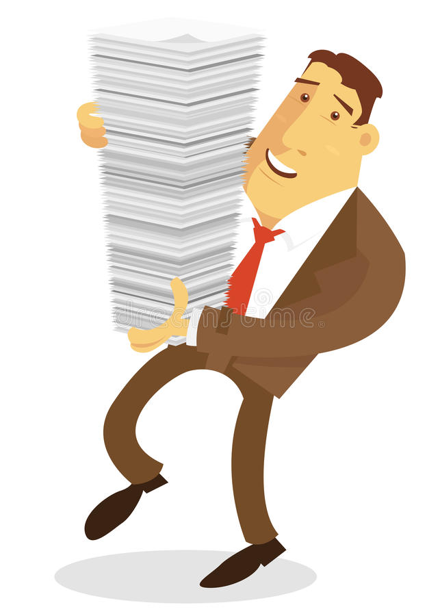 Uomo d'affari occupato illustrazione di stock