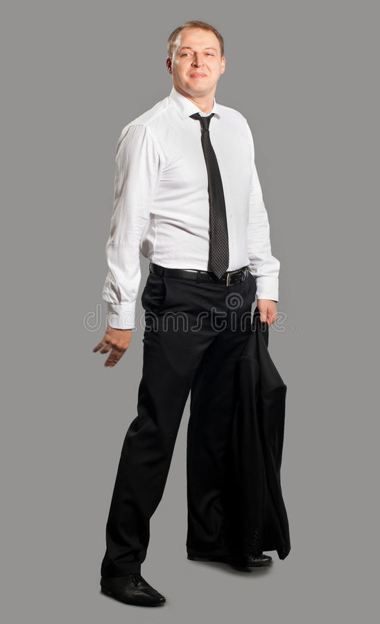 Uomo d'affari Partying fotografia stock