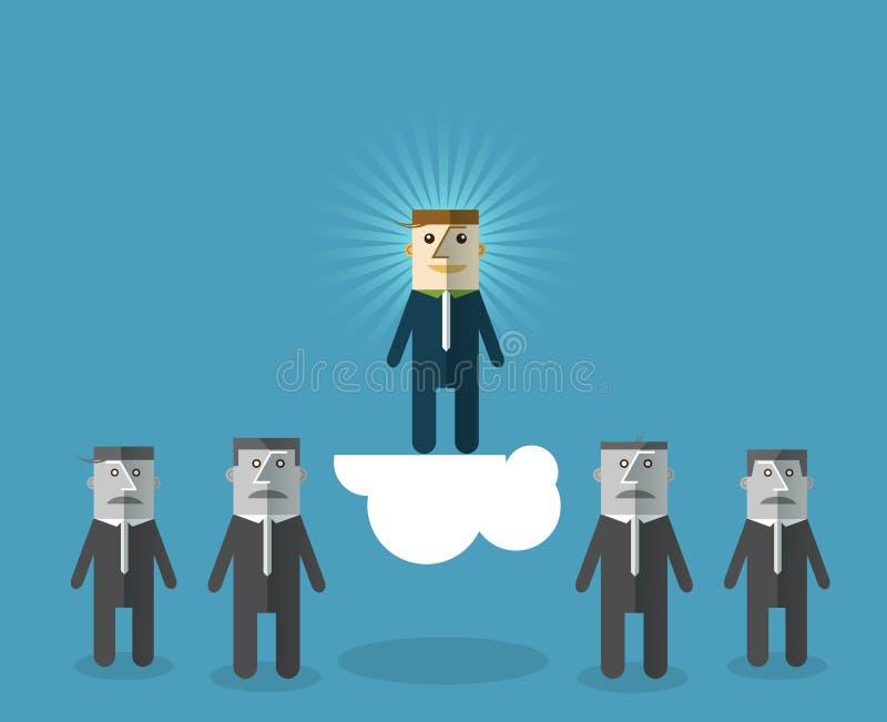 Uomo d'affari perfetto: Scelta della persona di talento per assumere royalty illustrazione gratis