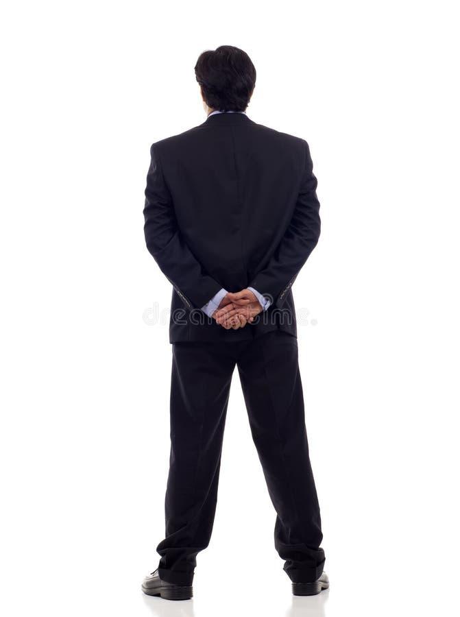 Uomo d'affari posteriore di vista immagine stock libera da diritti