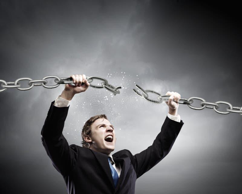 Uomo d'affari potente immagini stock libere da diritti