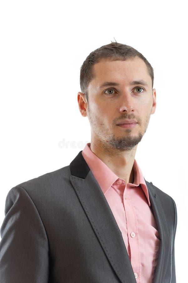 Uomo d'affari premuroso del legame del vestito fotografia stock