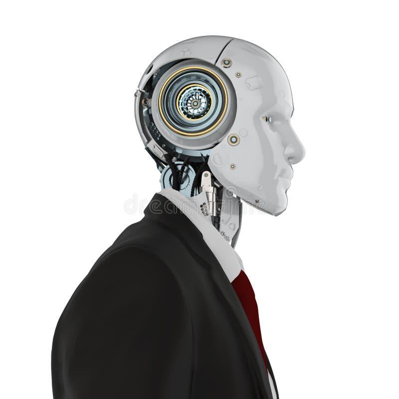 Uomo d'affari robot isolato royalty illustrazione gratis