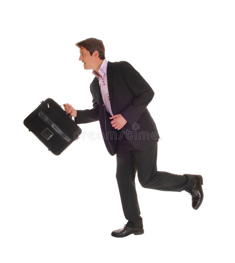 Download Uomo d'affari Running fotografia stock. Immagine di energia - 55352462