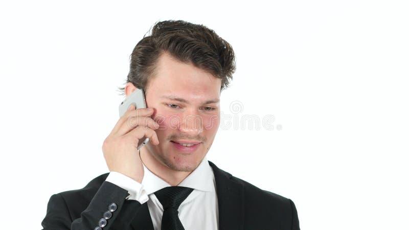 Uomo d'affari serio Looking in camera, alto vicino del fronte immagine stock libera da diritti