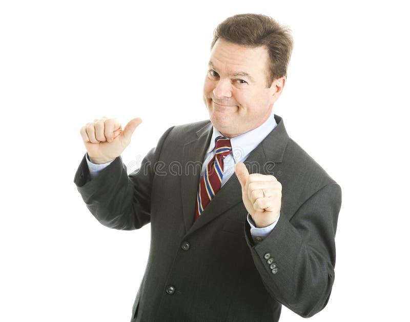 Uomo d'affari - sig. Bigshot immagine stock libera da diritti