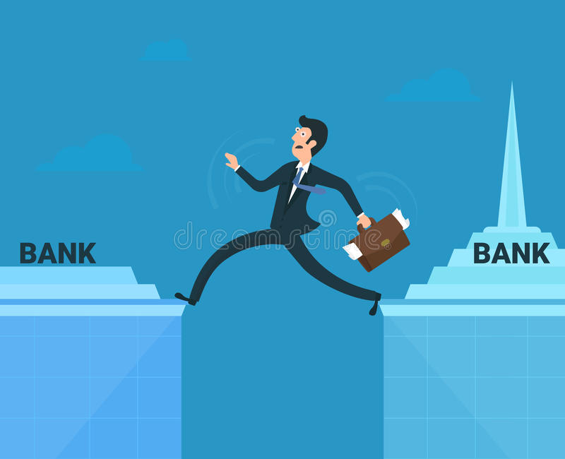 Uomo d'affari sollecitato illustrazione di stock