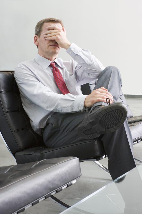 Uomo d'affari sollecitato immagine stock libera da diritti