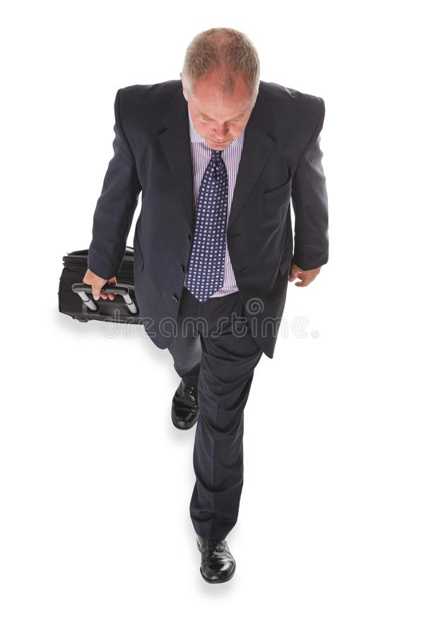 Uomo d'affari sopraelevato fotografie stock
