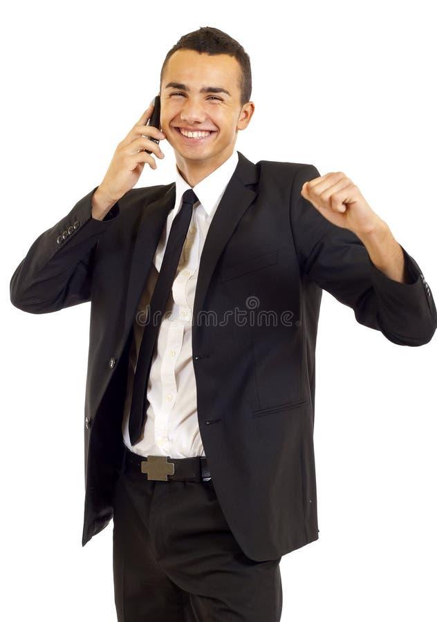 Uomo d'affari sorpreso fotografie stock