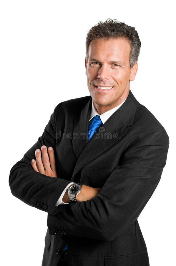 Uomo d'affari sorridente immagini stock libere da diritti
