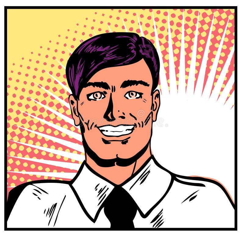 Uomo d'affari sorridente illustrazione di stock